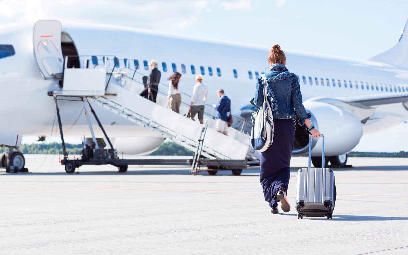Anreise Flugzeug Oberdeck Hamburg